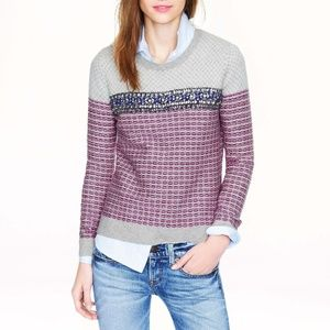 J. Crew Collection Jeweled Jacquard Sweater